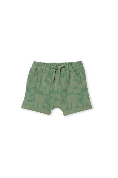 Milky Palm Track Short Ash Green