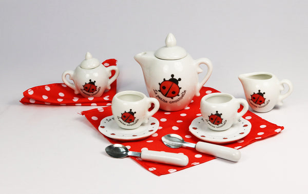 Ladybug Tea Set with Suitcase