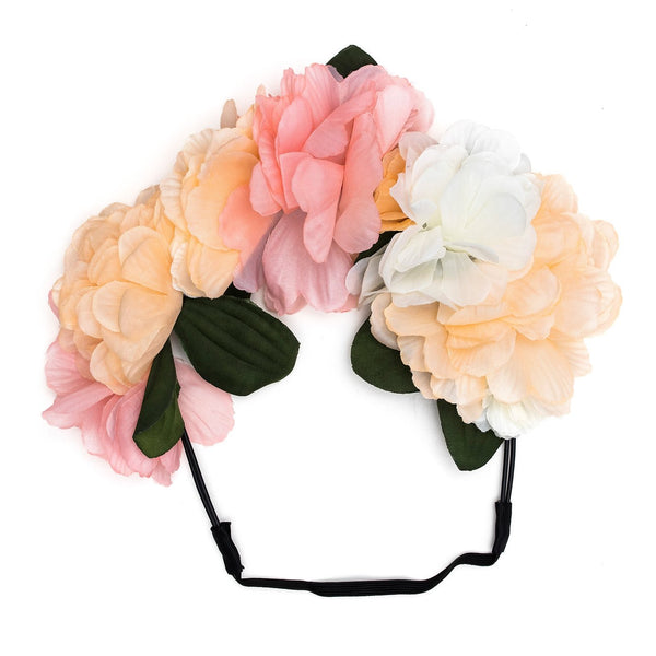 Rose Flower Garland Headband Mixed