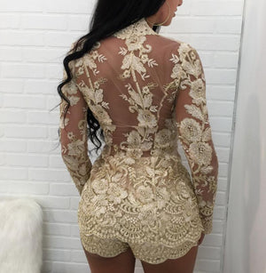 Sexy Two Piece Lace  Suit