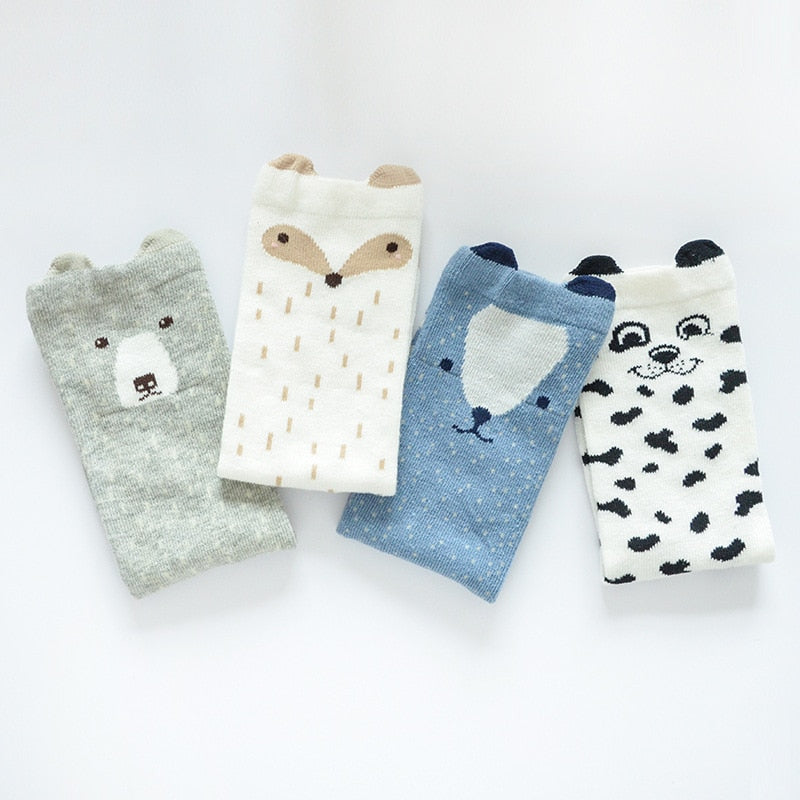 Baby girls cotton socks 4 pairs