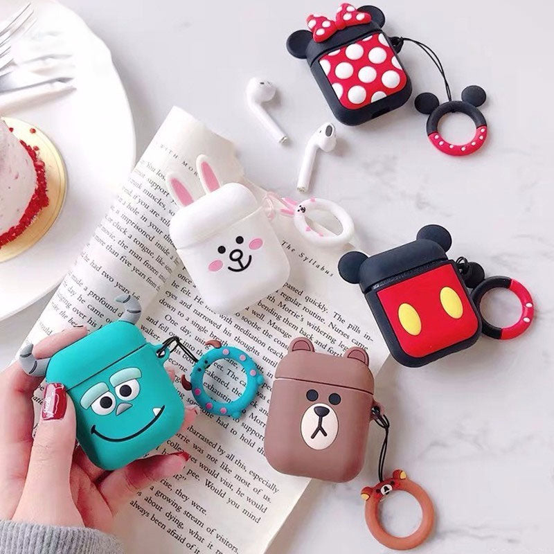 Cartoon Wireless Bluetooth Silicone Headphones Cases For Airpods