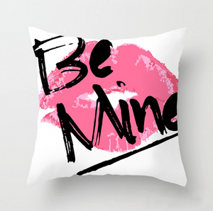 Pink Letter Pillow Case