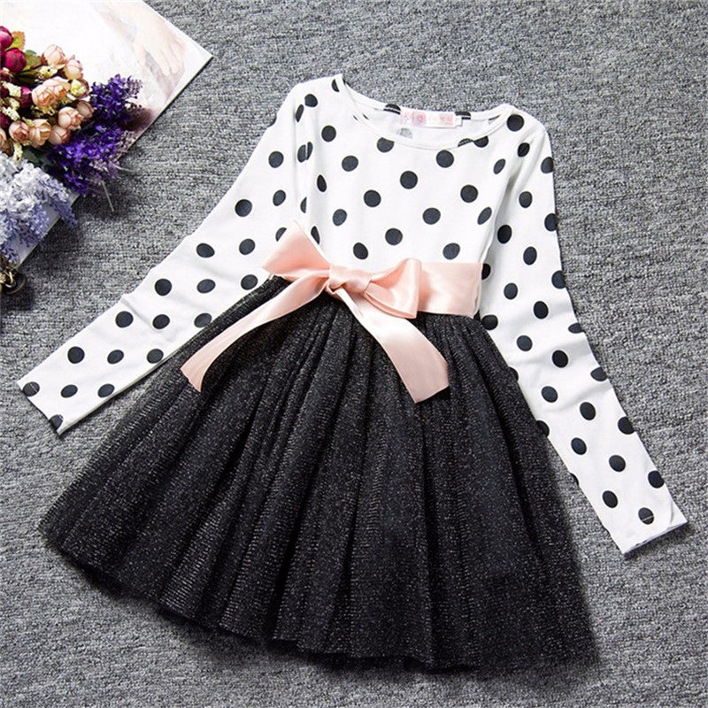 Polka Dot Long Sleeve Dress