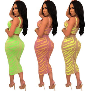Sling Tight-fitting Small Tan Ktop Vest Chest Metal Ring Zip. High Waist Curve Pencil Skirt 2019 Summer Sexy Skirt Two Piece Set