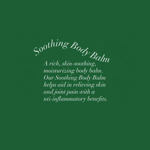 Sprouted Soul - Soothing Body Balm: A rich, skin-soothing, moisturizing body balm. Our Soothing Body Balm helps aid in relieving skin and joint pain with anti-inflammatory benefits.