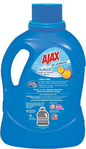 Ajax Laundry Oxy Overload Liquid Laundry Detergent, 60 Fluid Ounce