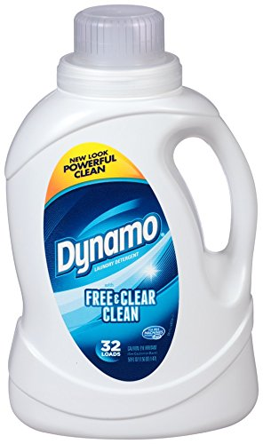 Dynamo Free & Clear Clean Liquid Laundry Detergent (50oz)