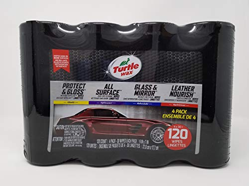 Turtle Wax 5104 4-Pack Car Cleaning Wipes, 4