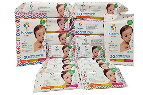 Bloom Baby Sensitive Skin Unscented Hypoallergenic Baby Wipes Mega Value Bulk Box - 690 Count