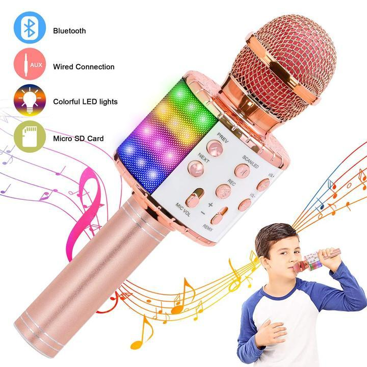 WIRELESS PORTABLE HANDHELD BLUETOOTH KARAOKE MICROPHONE - AmineMarket-Online shopping for the latest Products