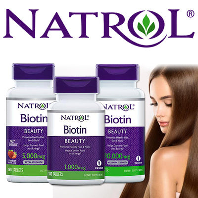 BIOTIN MAXIMUM 10000 MCG [HAIR + NAILS + ENERGY] - AmineMarket-Online shopping for the latest Products