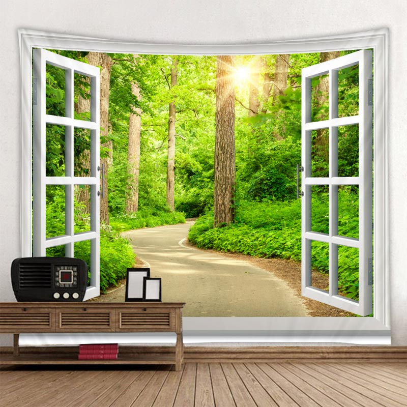 The Window Printed Tapestry Decorative - AmineMarket-Online shopping for the latest Products