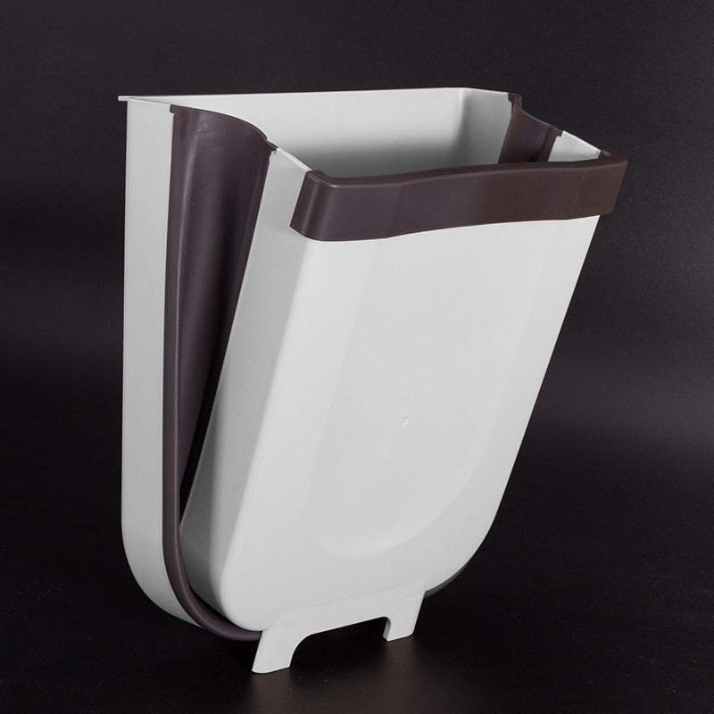 Creative Wall Mounted Folding Waste Bin - AmineMarket-Online shopping for the latest Products