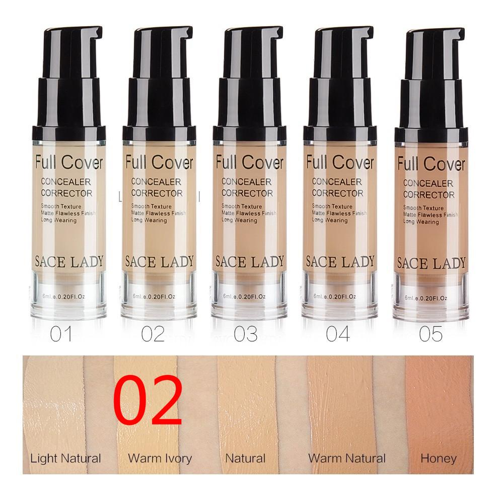 Full Cover Liquid Concealer Natural Makeup Base Flaws Coverage Waterproof - AmineMarket-Online shopping for the latest Products