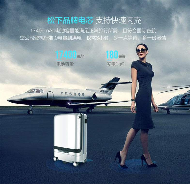 World's 1st Ride-On Smart Luggage with Self-Following Feature and Obstacle Avoidance - AmineMarket-Online shopping for the latest Products