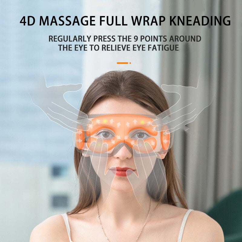 4D Smart Airbag Vibration Eye Massager Eye Care Instrument Hot Compress Eye Fatigue Massage - AmineMarket-Online shopping for the latest Products