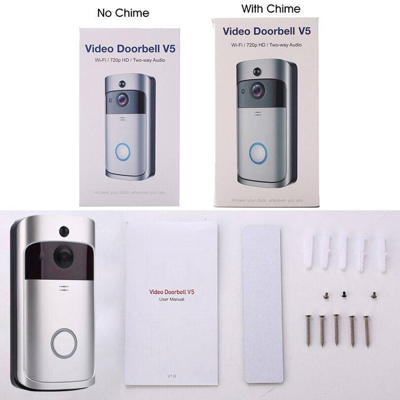 Wireless Video Doorbell Wide-angle Lens Door View Security Camera - AmineMarket-Online shopping for the latest Products