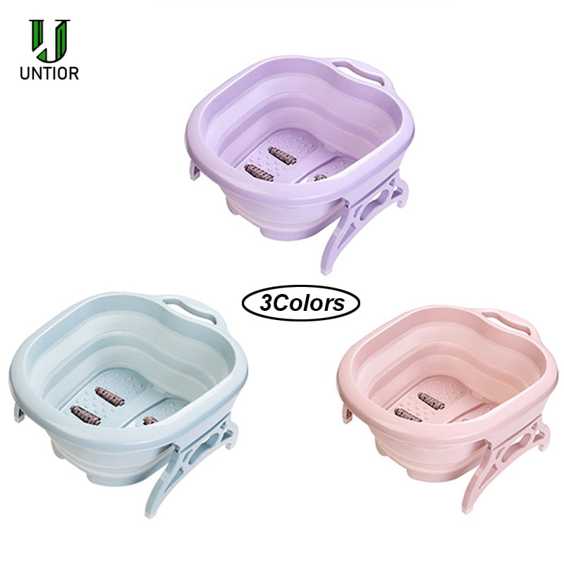 Foldable Foot Bath Plain Massage Bucket - AmineMarket-Online shopping for the latest Products