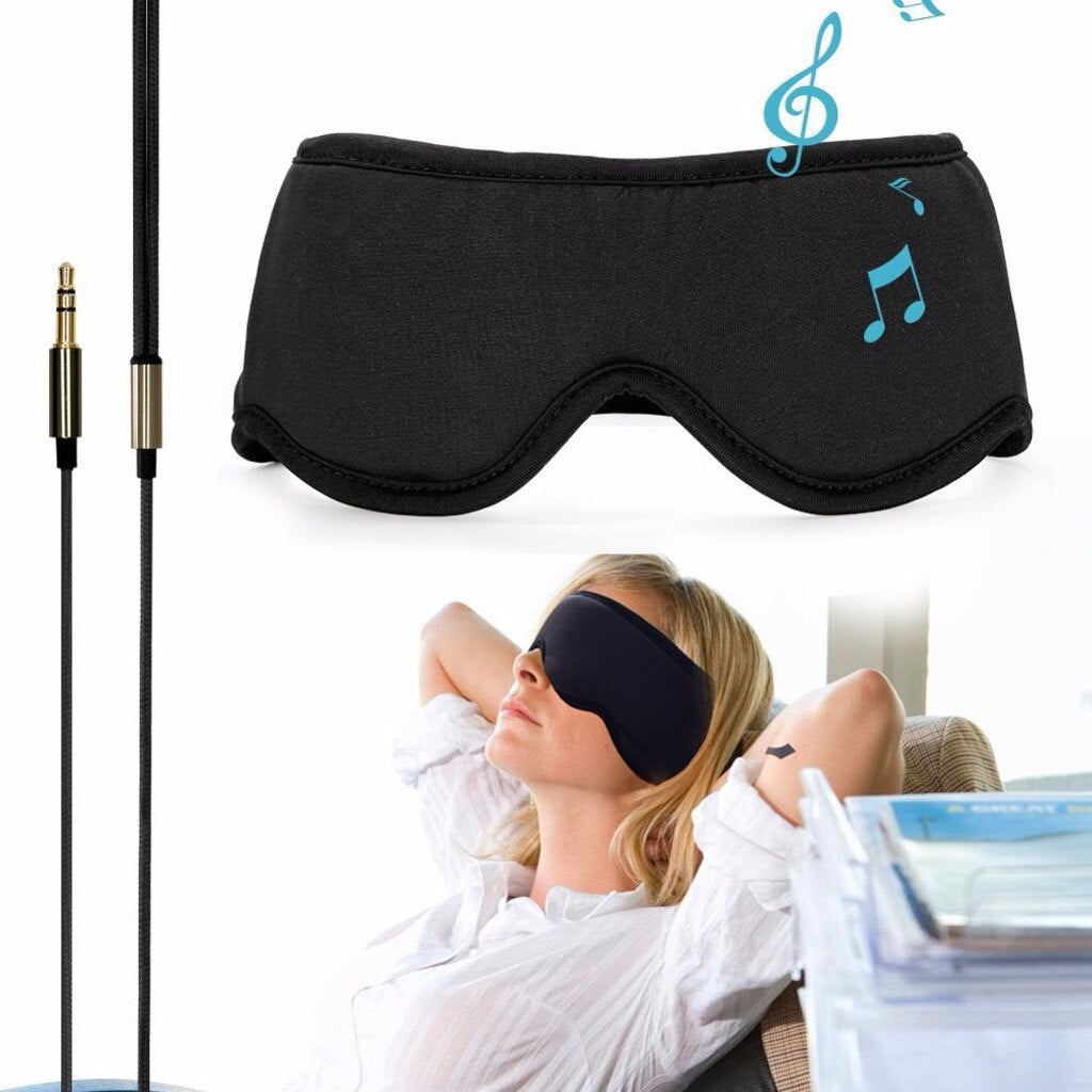 Smart Earphone Wired Sleepace Sleep Eye Mask  Travel Bag Headset - AmineMarket-Online shopping for the latest Products