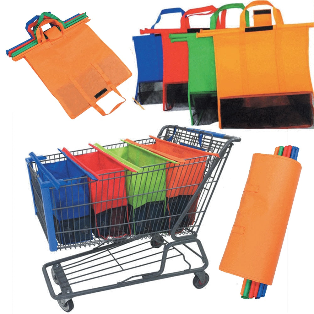 4-IN-1 REUSABLE GROCERY BAG AND SHOPPING CART BAGS - AmineMarket-Online shopping for the latest Products