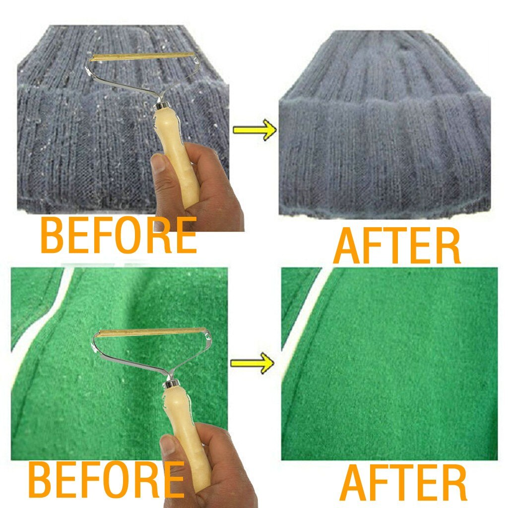 Portable Lint Remover Clothes Fuzz Fabric Shaver Brush Tool - AmineMarket-Online shopping for the latest Products