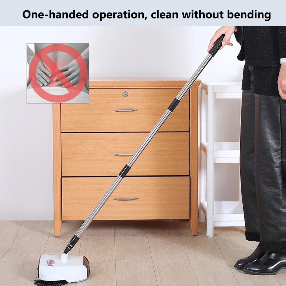 Stainless steel hand-push sweeper vacuum cleaner mop floor cleaner household - AmineMarket-Online shopping for the latest Products