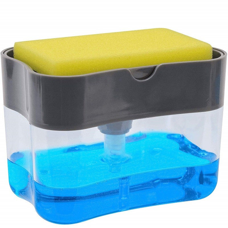 Soap Pump Dispenser with Sponge Holder - AmineMarket-Online shopping for the latest Products