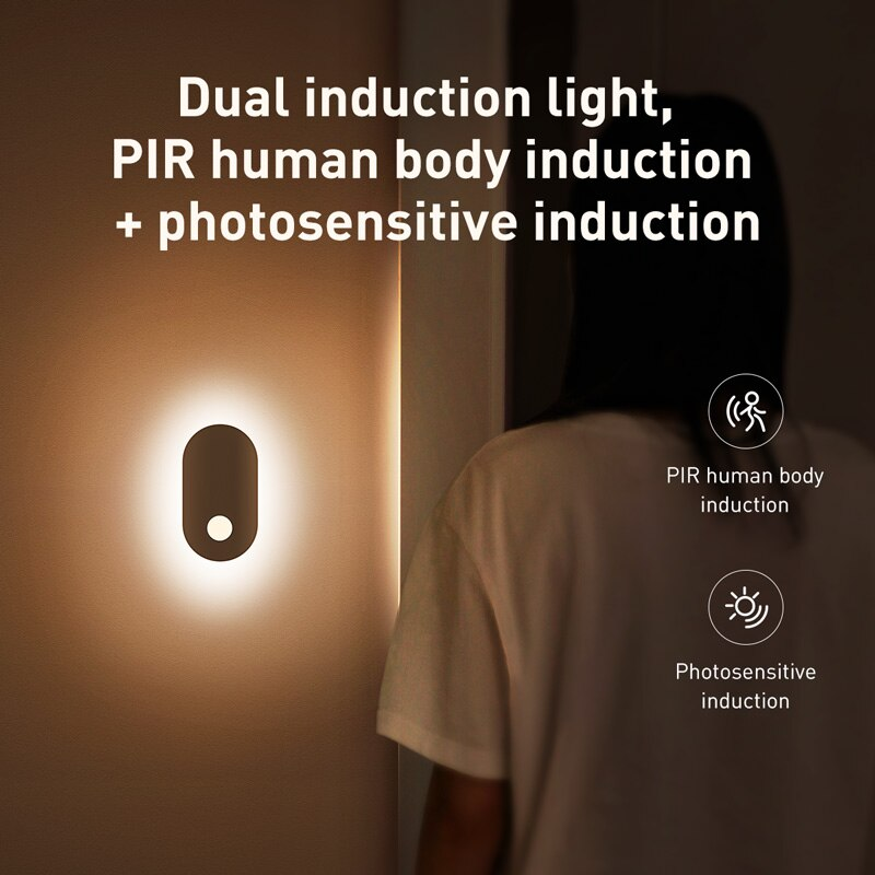 Intelligent LED Wall USB Rechargeable PIR Human Body Sensor - AmineMarket-Online shopping for the latest Products