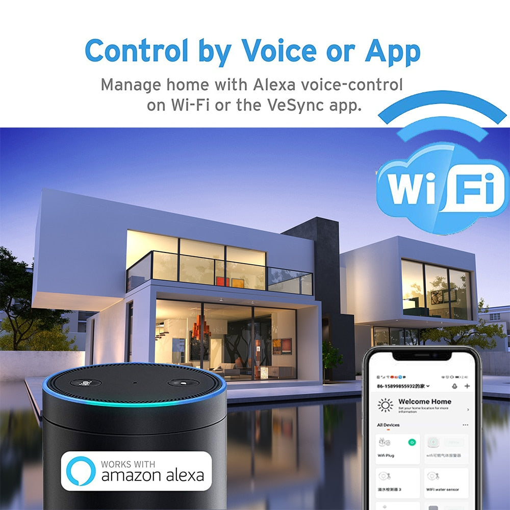 Smart Plug Power Energy Voice Control by Your SmartPhone IOS /Android - AmineMarket-Online shopping for the latest Products
