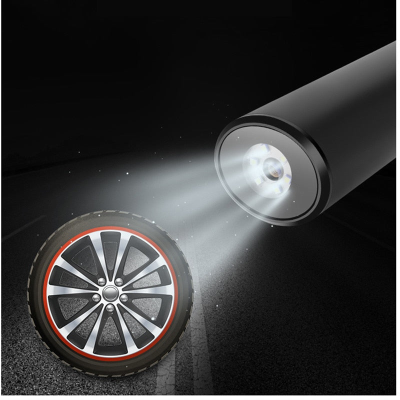 PORTABLE ELECTRIC AIR PUMP Mini Tires Inflator USB Charging With LED Light - AmineMarket-Online shopping for the latest Products