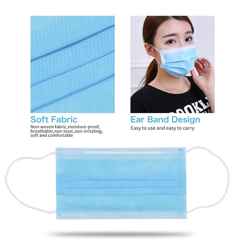 Disposable Surgical Mask Face Mask 3-Layer Dust Infection Protection - AmineMarket-Online shopping for the latest Products