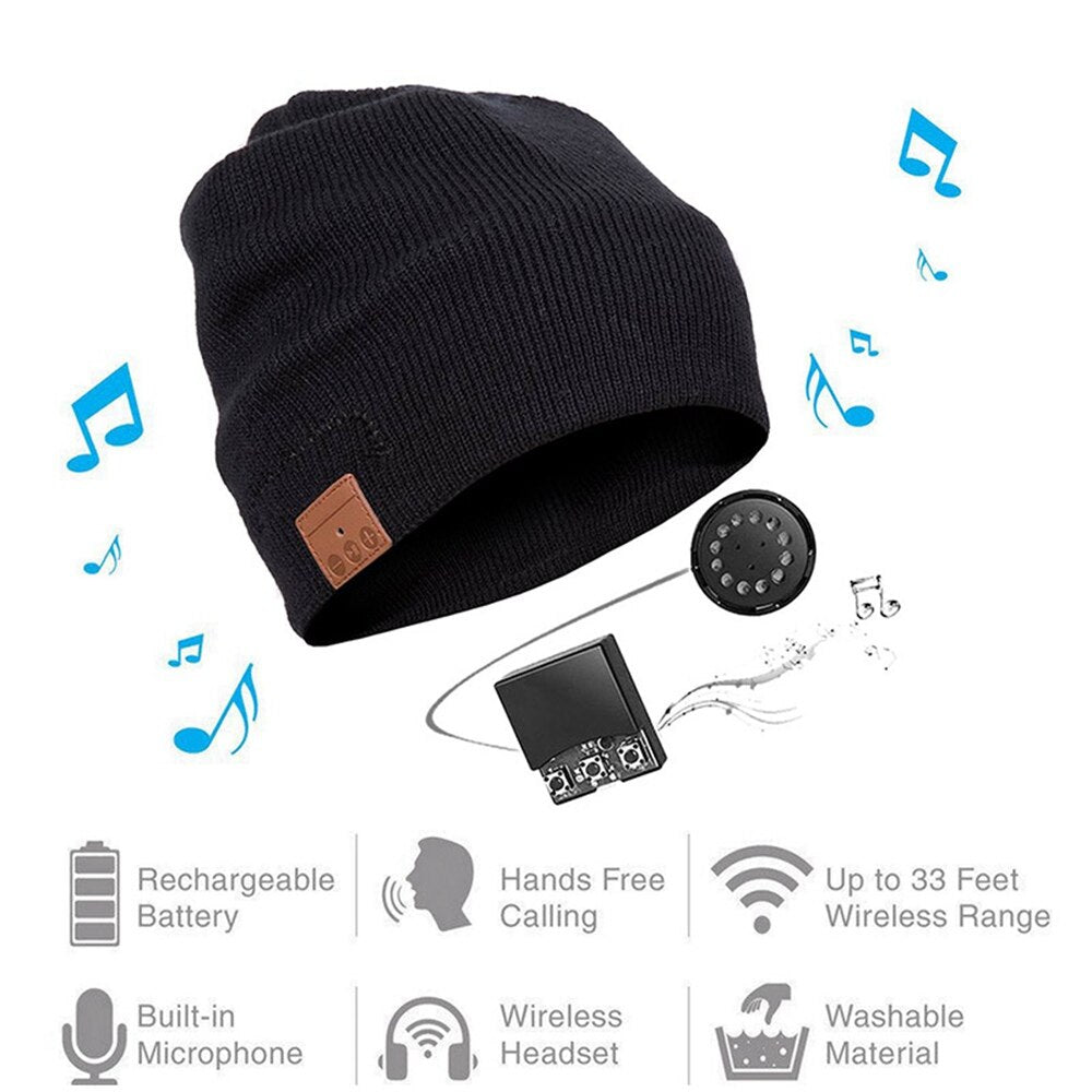 New Arrival Wireless Smart Cap  Winter Running Hat Headset - AmineMarket-Online shopping for the latest Products