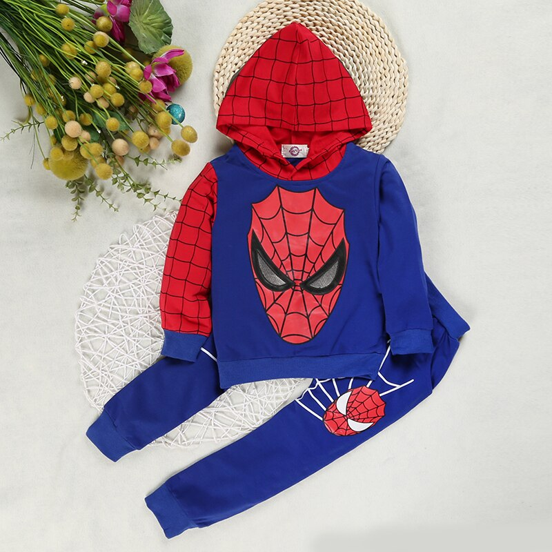 SpiderMan Costume Kids Hoodie Tracksuit Clothes - AmineMarket-Online shopping for the latest Products