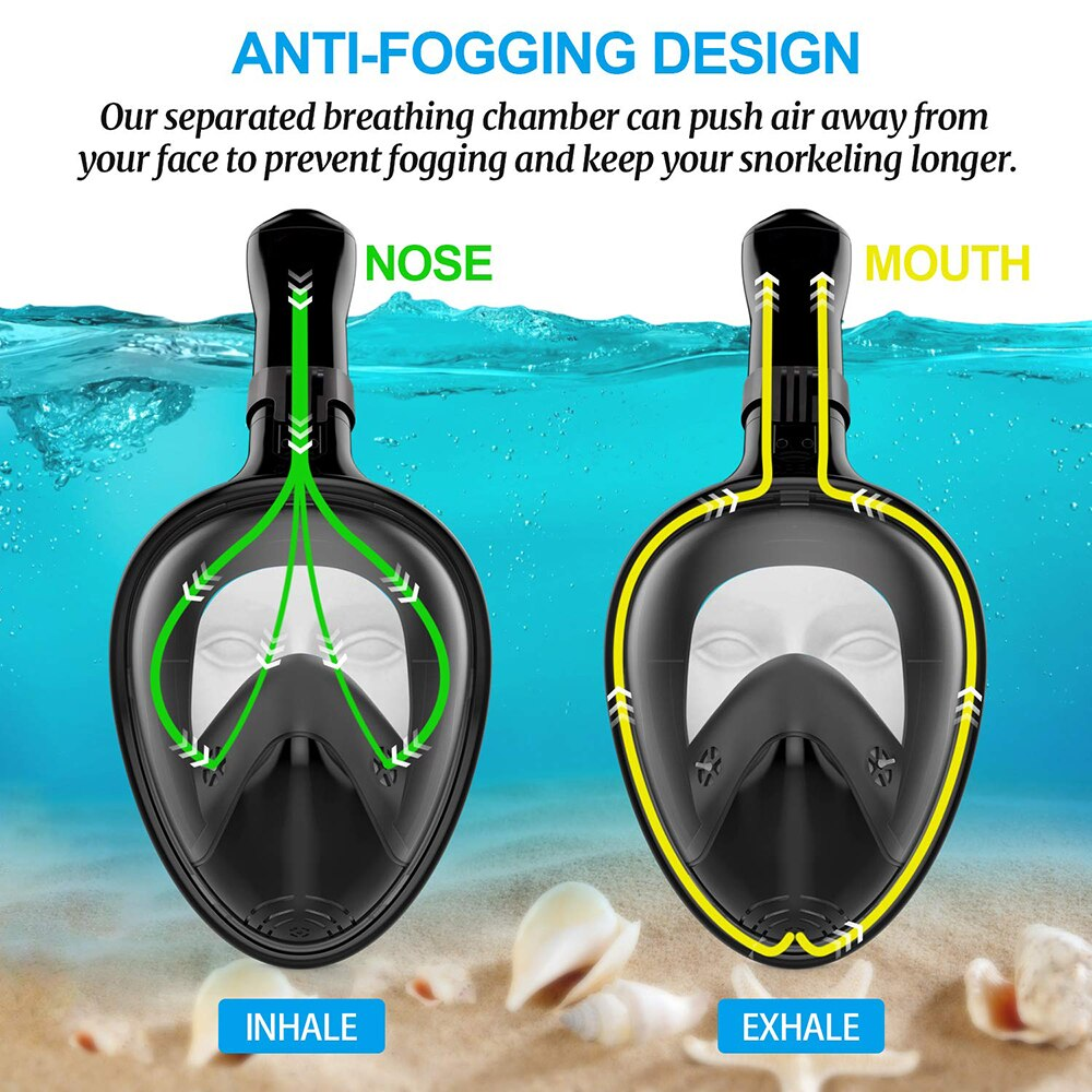 Full Face Snorkel - AmineMarket-Online shopping for the latest Products