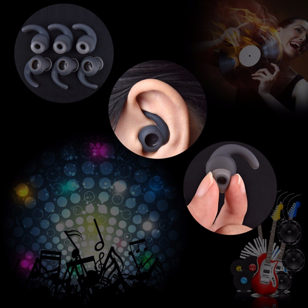 3pairs/lot Soft Silicone Ear Pads Eartips for Earphone Silicone case - AmineMarket-Online shopping for the latest Products