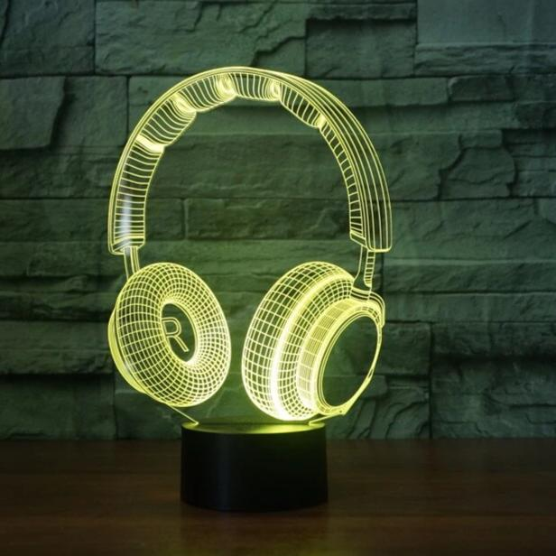 3D DJ Headphone Illlusion Lamp - AmineMarket-Online shopping for the latest Products