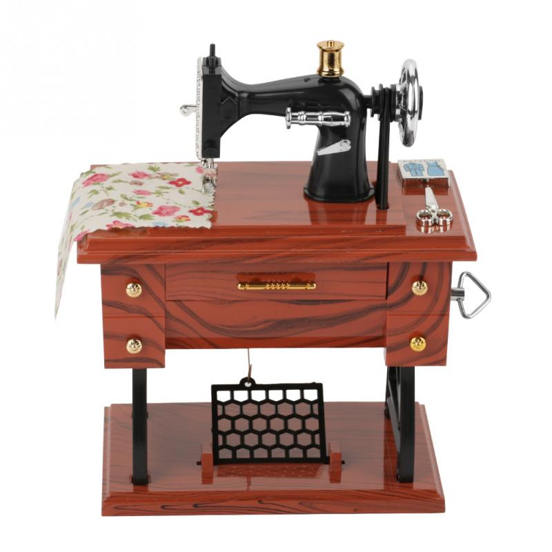 Mini Sewing Machine Music Box Gift Table Home Decoration - AmineMarket-Online shopping for the latest Products