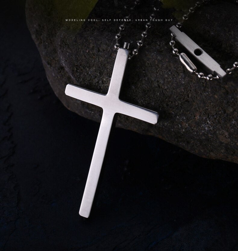 New Cross Tungsten Steel Head Self Defense Safety Outdoor For Women/ Men With Necklace - AmineMarket-Online shopping for the latest Products