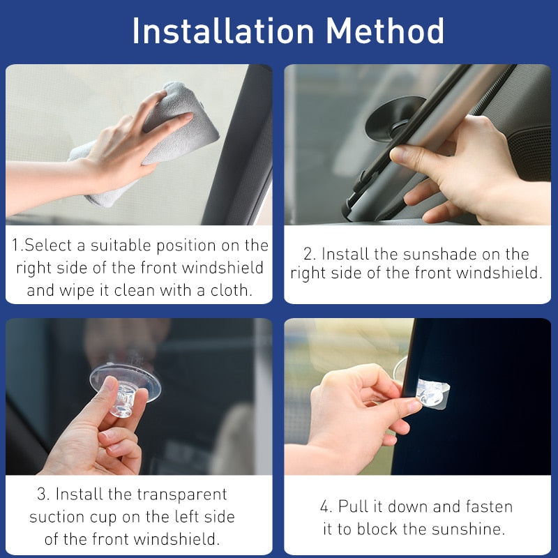 Windshield Car Window Shade Car Front Sun Block Auto Rear - AmineMarket-Online shopping for the latest Products