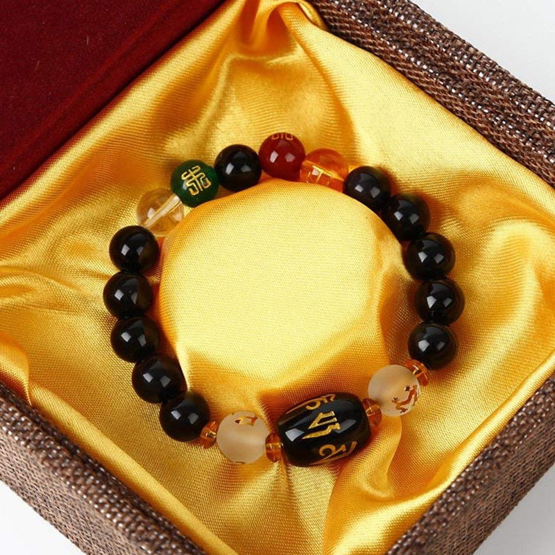 Feng Shui Obsidian Bracelet Box Included - AmineMarket-Online shopping for the latest Products