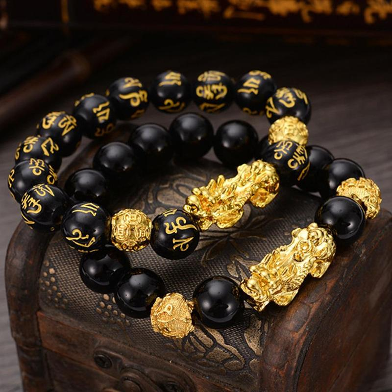 Feng Shui Black Obsidian Bracelet - AmineMarket-Online shopping for the latest Products