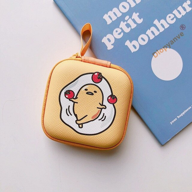 Cartoon Mini Zipper Hard Headphone Holder Case Portable Earbuds - AmineMarket-Online shopping for the latest Products
