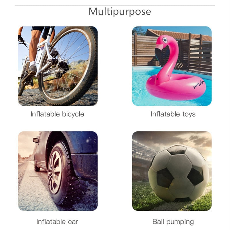 Mini Pump Portable Tire Compact Air Inflator Inflating for Bike Bicycle Ball