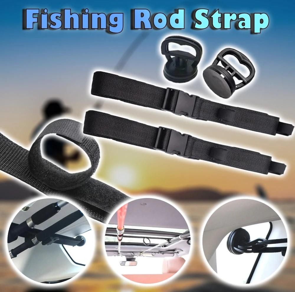 Fishing Vehicle Rod Carrier  With Tie Suspenders Wrap - AmineMarket-Online shopping for the latest Products