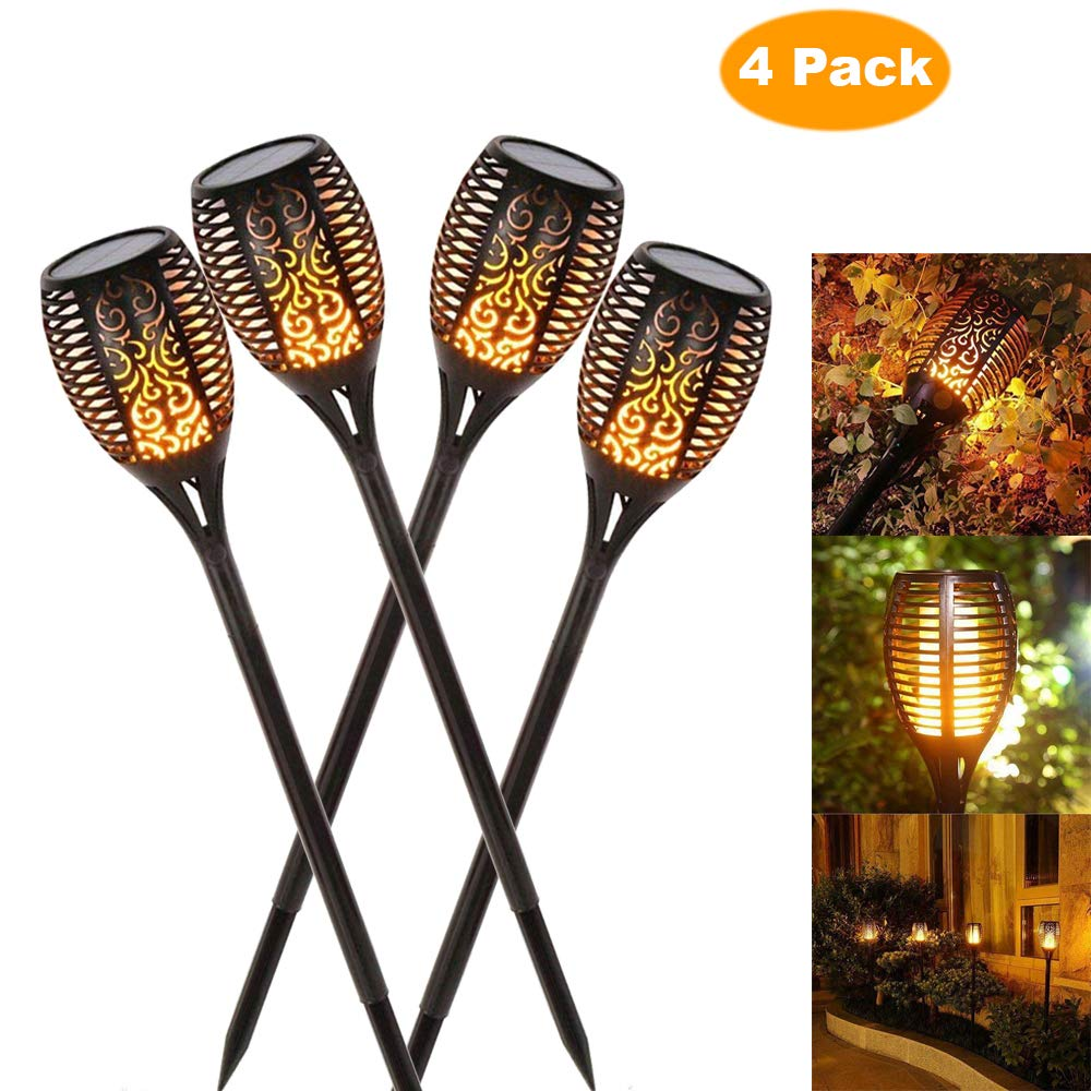 Solar Flame Flickering Lamp Torch FREE SHIPPING - AmineMarket-Online shopping for the latest Products