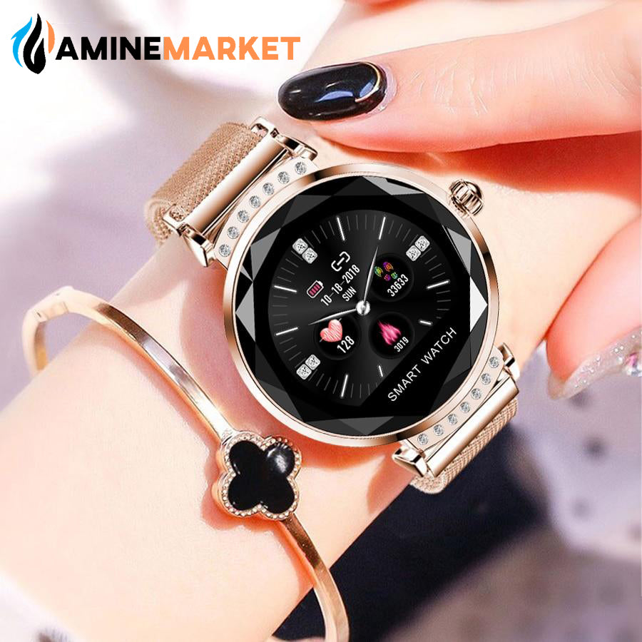 Smart-Watch Blood-Oxygen-Heart-Rate-Monitor Waterproof Women For iOS Android - AmineMarket-Online shopping for the latest Products