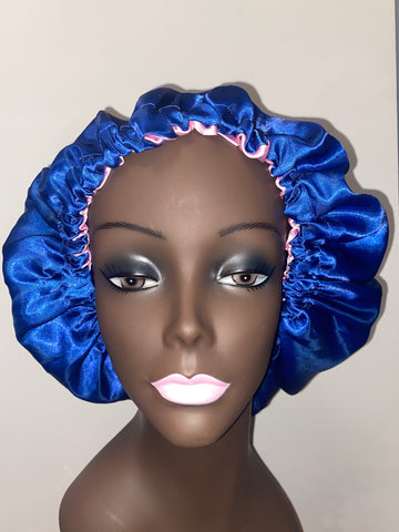 Blue Unique Beauty Hair Bonnet