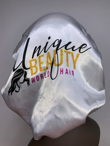 White Unique Beauty Hair Bonnet