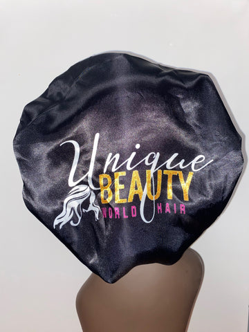Black Unique Beauty Hair Bonnet